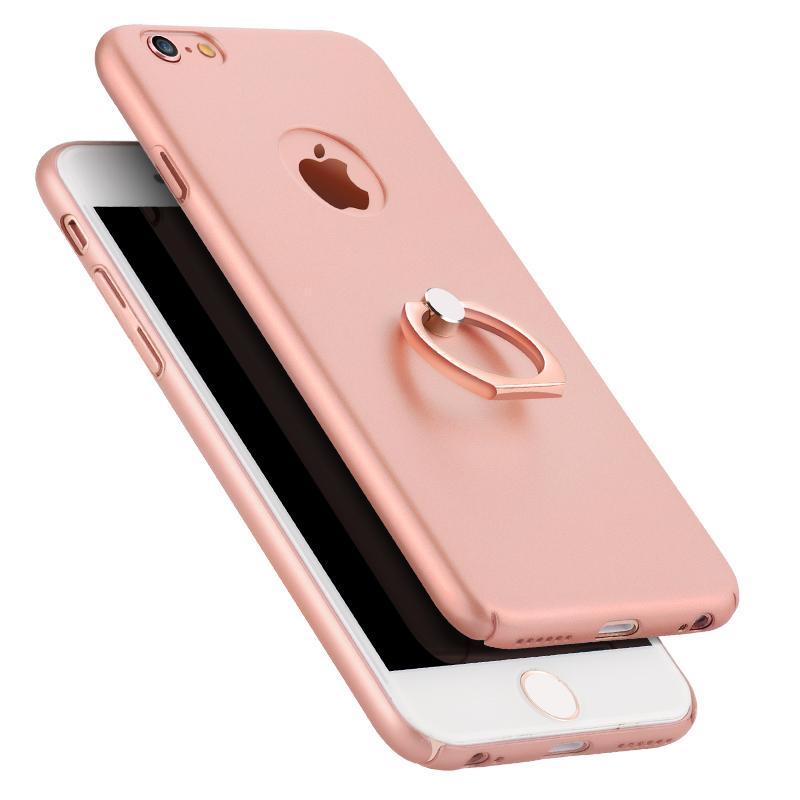 iPhone6手機殼磨砂硬殼蘋果6plus指環支架男女6s全包超薄防摔