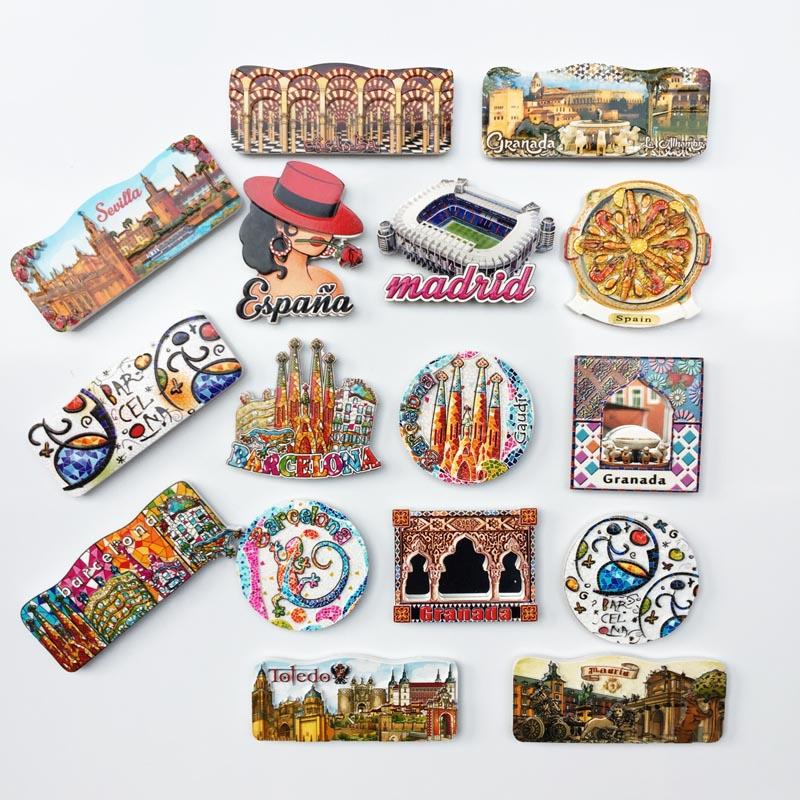 西班牙各地网红景点打卡地标建筑旅游纪念品磁力冰箱贴收藏伴手礼