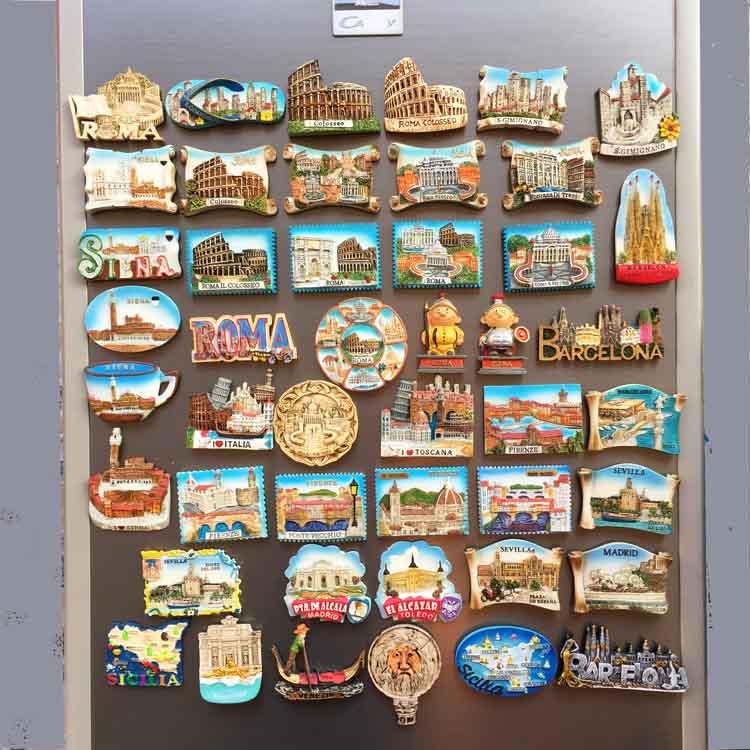 欧洲意大利西班牙各地旅游纪念工艺品磁贴冰箱贴 创意收藏伴手礼