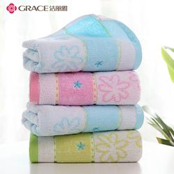 洁丽雅毛巾纯棉成人情侣加厚无捻花朵家用洗脸柔软吸水大毛巾