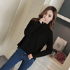 2017 new winter turtleneck pullover female Korean students loose long-sleeved knit shirt wild thicken