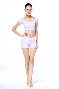新款专业胸垫大码钢管舞紧身瑜伽服