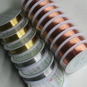 进口首饰专用铜线 银色金色玫瑰金铜丝线 diy饰品材料配件