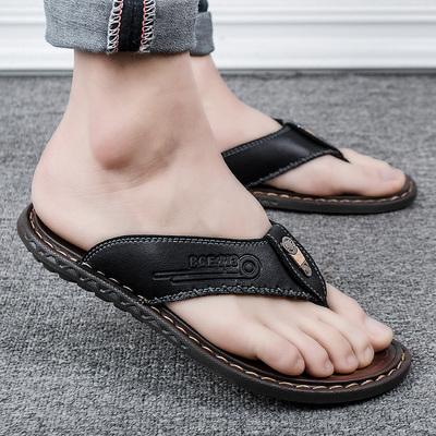 人字拖男2020新款夏季男士凉鞋男室外个性沙滩皮凉拖鞋男潮流外穿