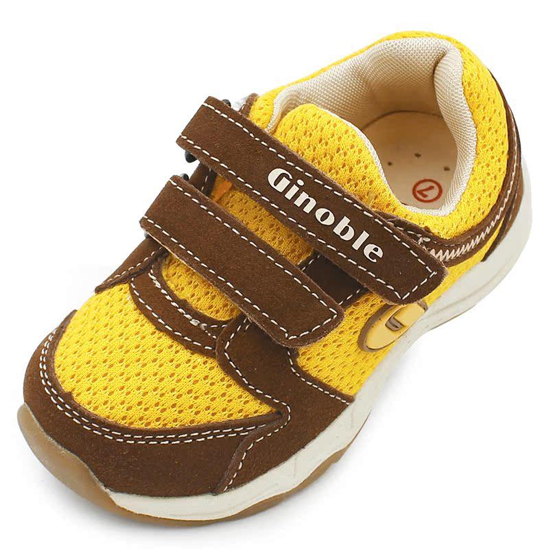 基諾浦機能鞋春秋款 男童女童兒童防滑 鞋 嬰兒寶寶軟底學步鞋