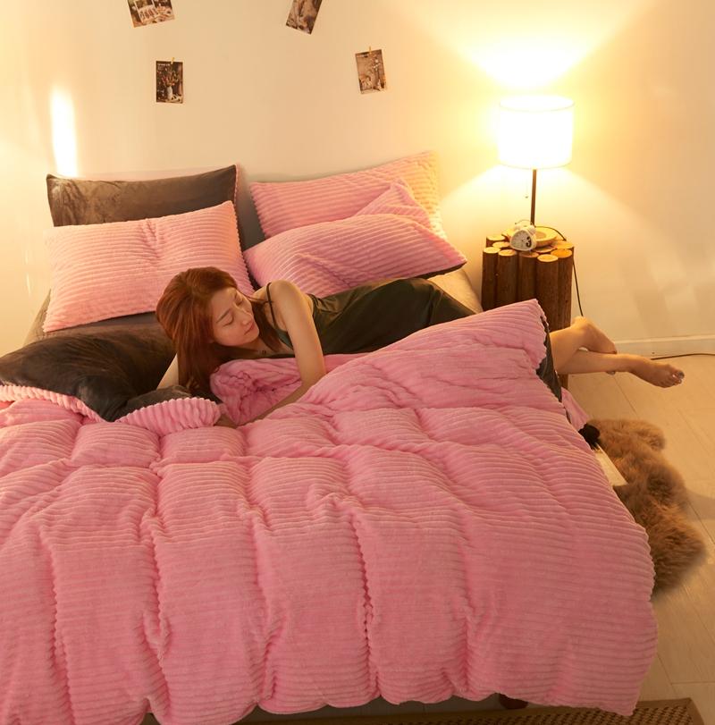 魔法绒珊瑚绒四件套冬季加厚保暖床上用品被套法兰绒双面绒法莱绒