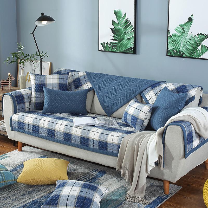 九只猫北欧现代客厅布艺沙发垫四季通用靠背巾罩全包盖沙发坐垫