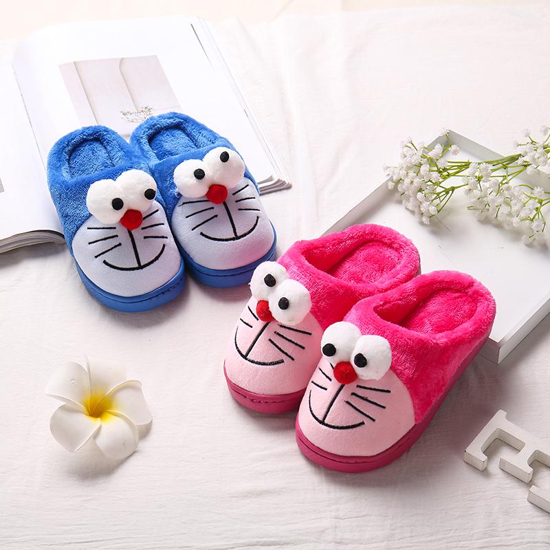 儿童拖鞋秋冬季保暖卡通棉拖鞋宝宝室内居家防滑男童女童小孩拖鞋