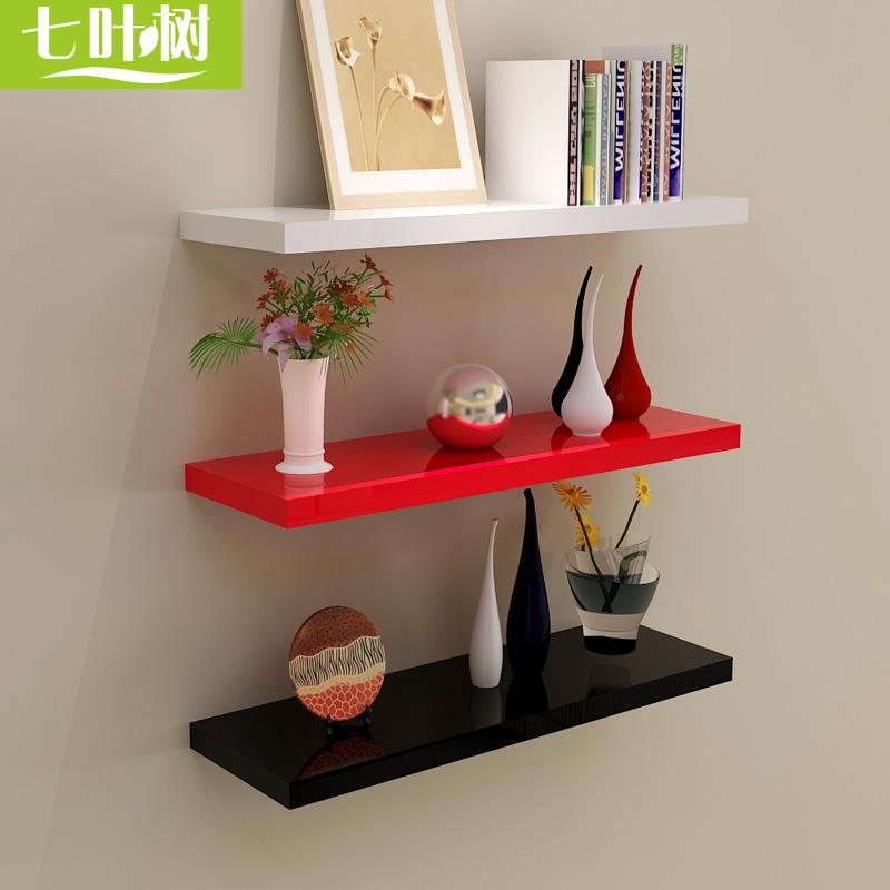 一字隔板墙面多层置物架墙壁挂木板电视背景墙上装饰书架搁板层板