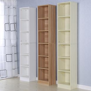 现代简约书架书柜收纳柜储物柜简易落地儿童书柜置物架窄柜