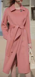 韩版2020双面尼羊绒大衣大毛领羽绒服女神款专拍链接