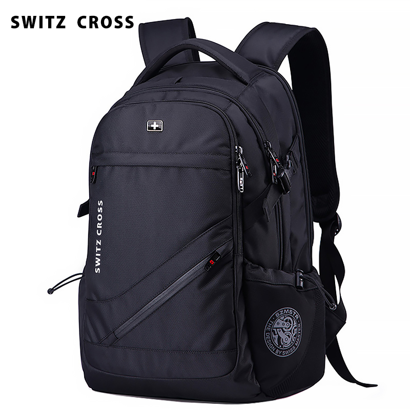 Swiss Sergeant knife backpack for men's large capacity leisure business travel computer backpack for men's junior high school students schoolbag