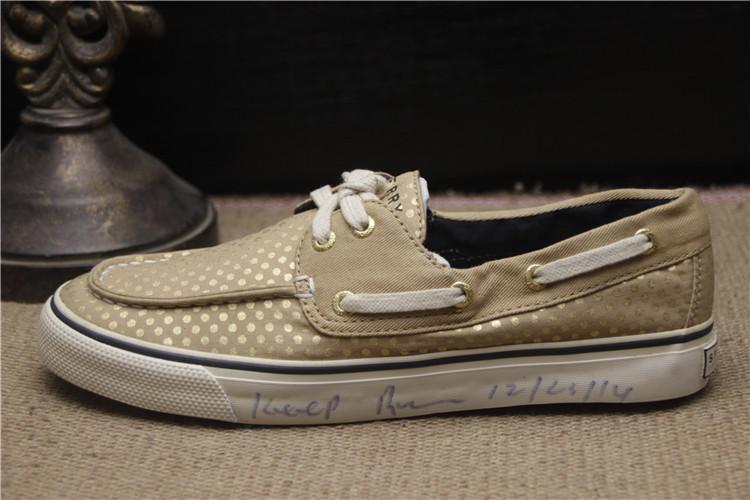 亏本清 春夏低帮女鞋系带帆布圆点舒适透气户外休闲帆船鞋A72