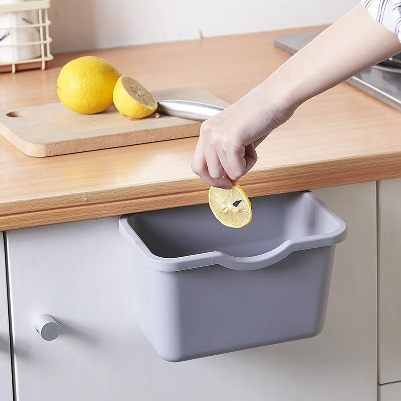 廚房櫥櫃可掛式無蓋垃圾桶大號家用PP塑料 垃圾桶櫥櫃門懸掛式