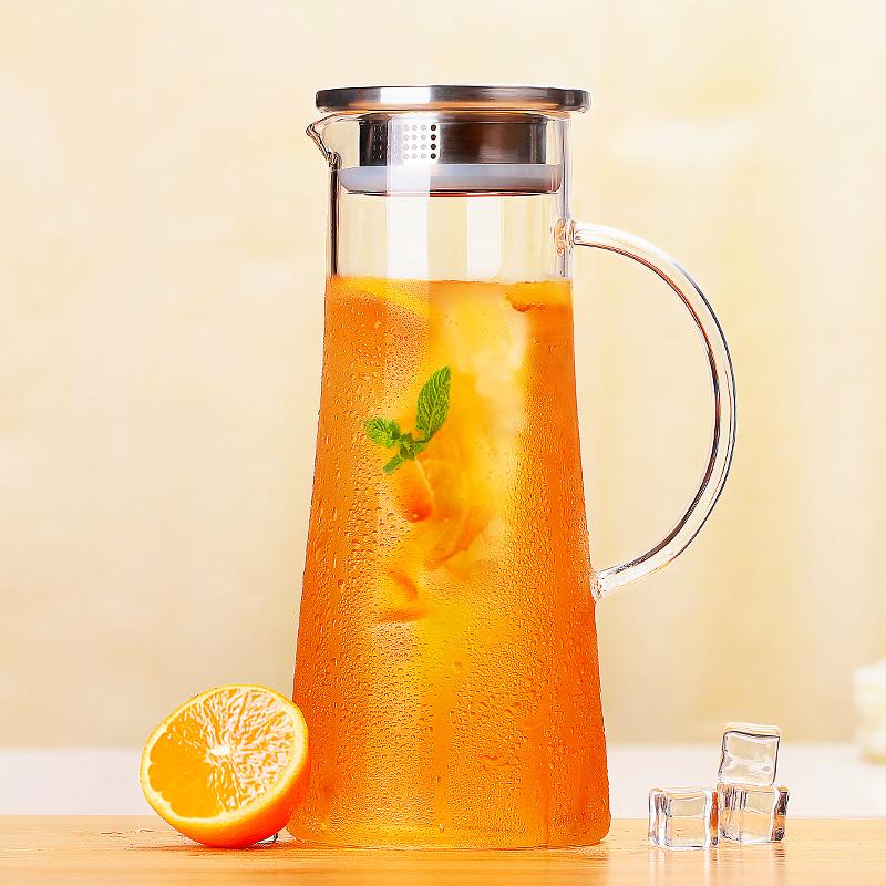 光一大容量冷水壺耐熱家用玻璃涼水壺防爆耐高溫涼水杯紮壺晾茶壺