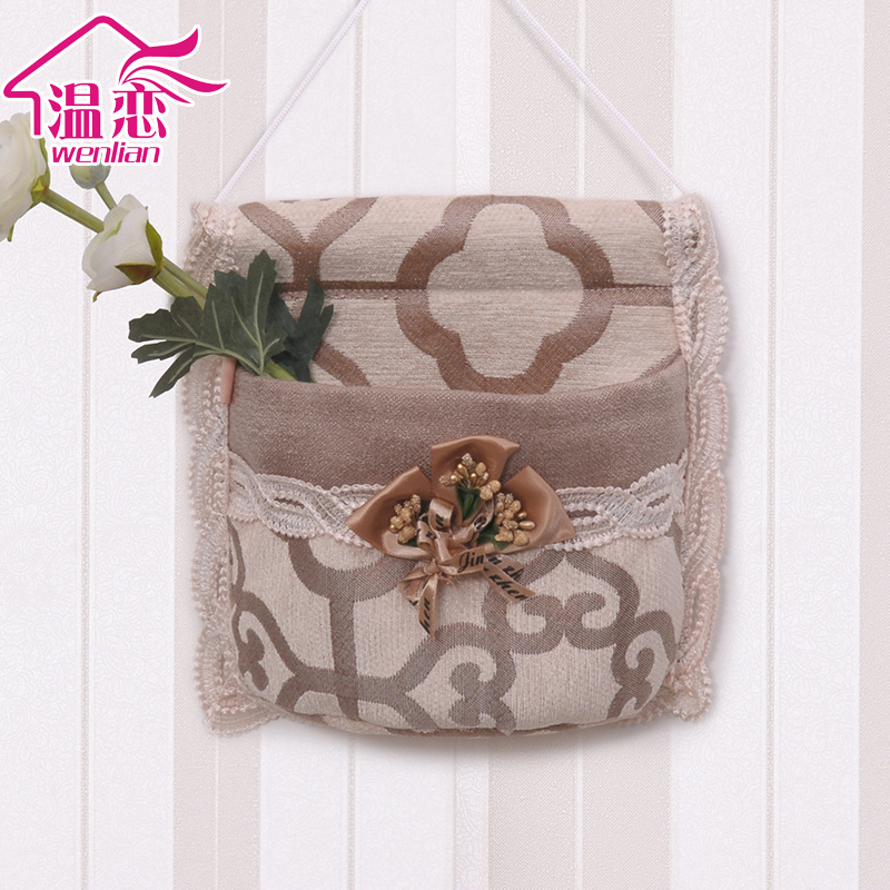 Температура любовь висит сумка чистый черный мешок стена подвесной ворота после многофункциональный один карман один висит сумка ткань кружево хранение мешок