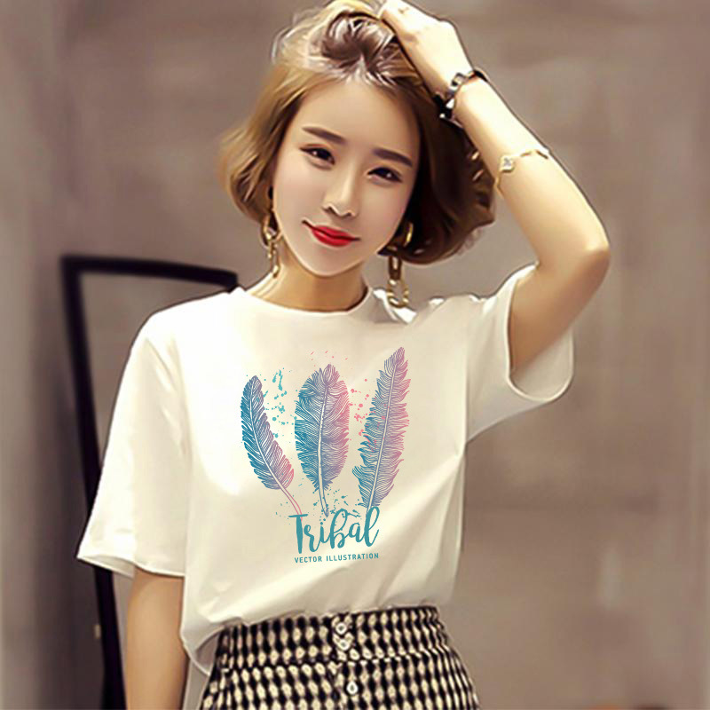 D118 white T-shirt womens short sleeve new summer loose half sleeve net red clothes Street auction hiphop top