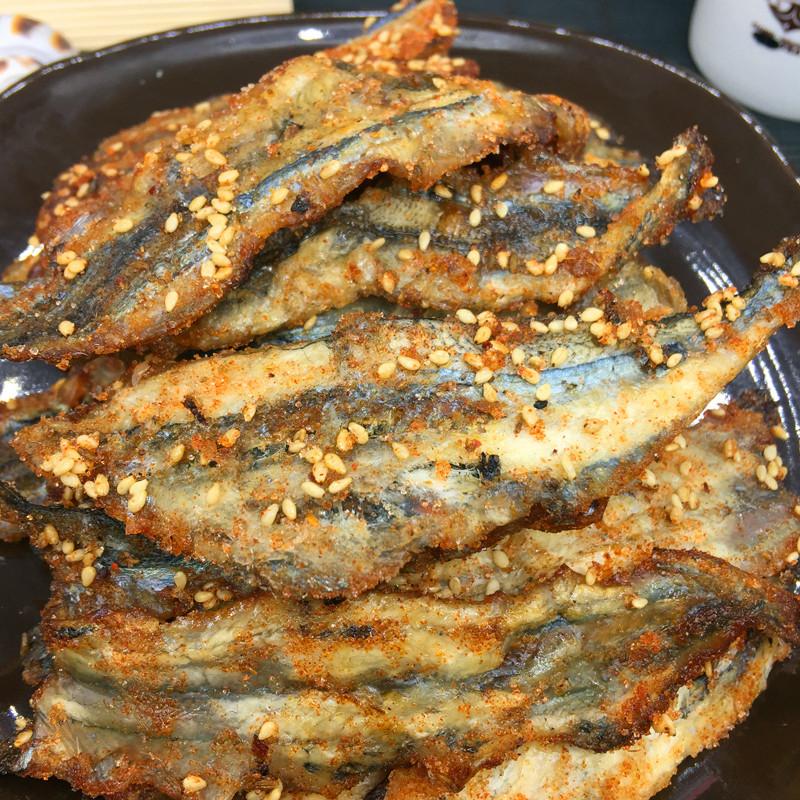 即食烧烤马步鱼干500g 烤鱼片芝麻马步海鲜零食 烤针鱼大棒鱼包邮