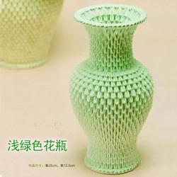 手工三角插diy三角插折纸材料纸包 立体花瓶制作材料包