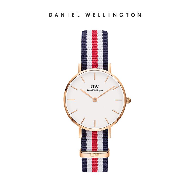 Danielwellington 丹尼尔惠灵顿dw手表女 28mm女表女生织纹石英表图片