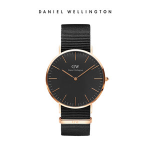 danielwellington dw男40mm黑手表