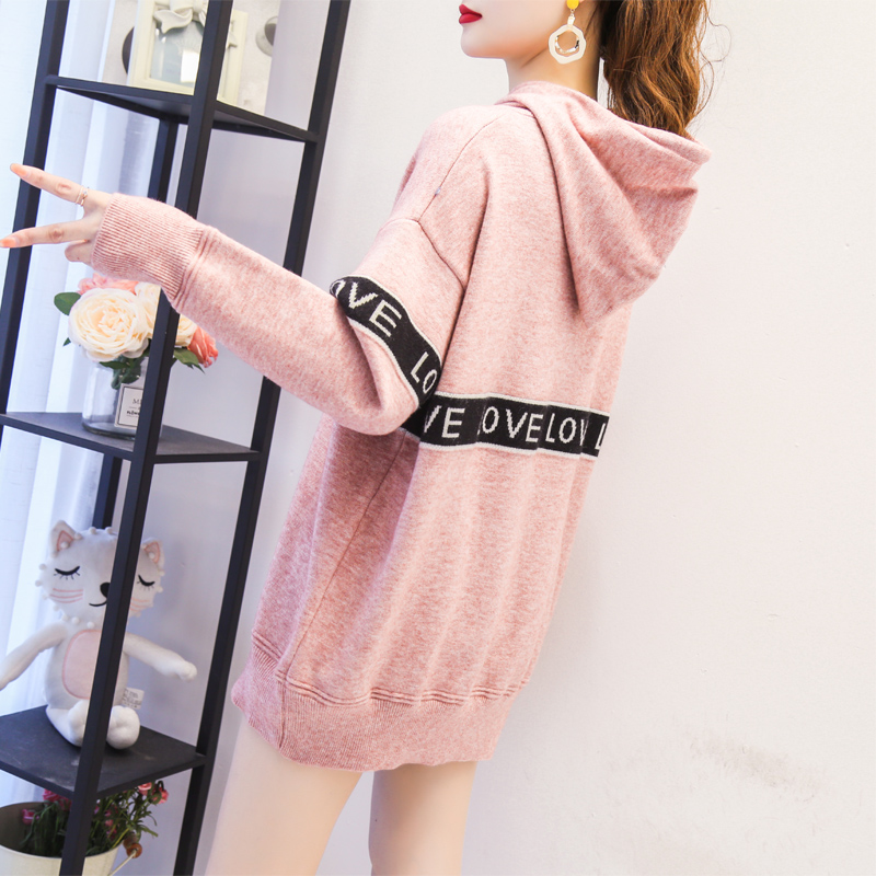 Hooded sweater Pullover womens loose and lazy wind top thickened in autumn and winter