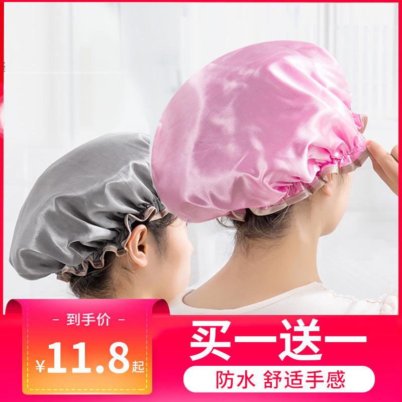 防水浴帽成人女款洗澡头发罩淋浴头套帽子沐浴发套防油烟发帽