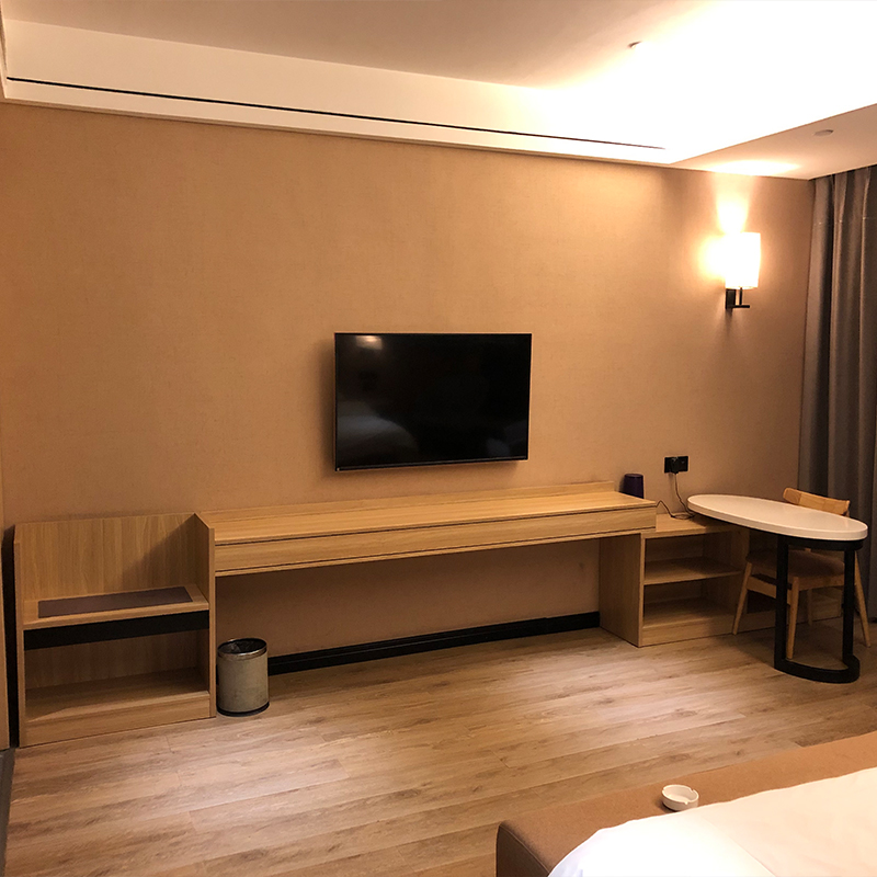 酒店宾馆经济型高低置物架  单身公寓客房家具组合套装桌子电视柜