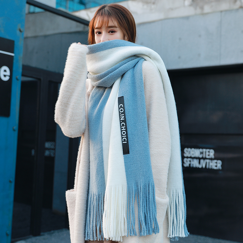 Scarf female autumn and winter Korean version versatile lovely student couple style womens Japanese soft girl Bib male
