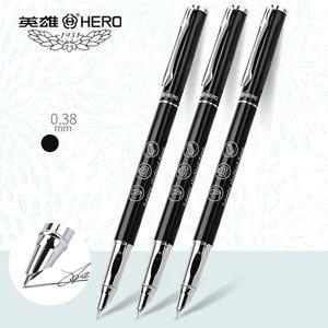 英雄钢笔3163小学生专用三年级正姿儿童可替换墨囊男孩女生初学者硬笔书法练习0.38mm特细笔尖练字书写钢笔