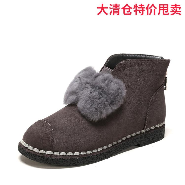 Daphne/达芙妮鞋柜冬季新品休闲保暖加厚雪地靴女棉靴1117608261