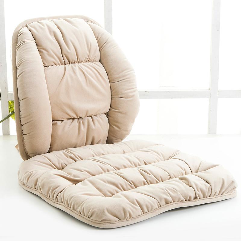 冬季毛绒坐垫靠垫一体 麻将椅子垫单片办公室学生保暖座椅垫