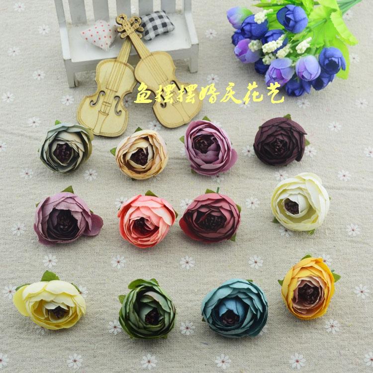 DIY handmade wreath material imitation flower rose retro Camellia bract Sen series handmade accessories happy candy box decoration