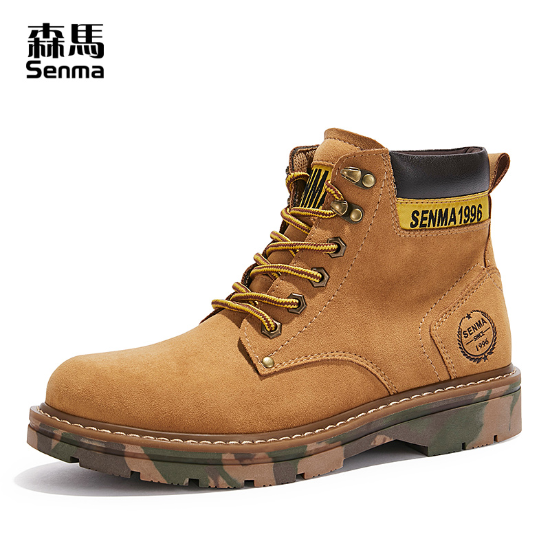 Semir Martin boots men's British style 2020 new high-top tooling boots wild trend boots autumn men's shoes rhubarb boots