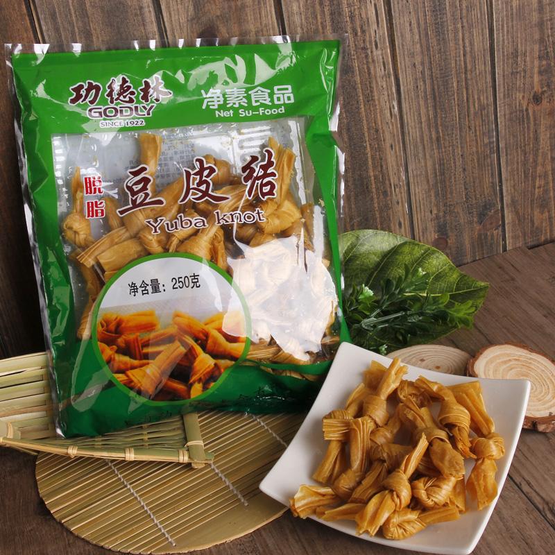 【功德林】豆皮�Y250g 上海特�a豆皮干� 素食