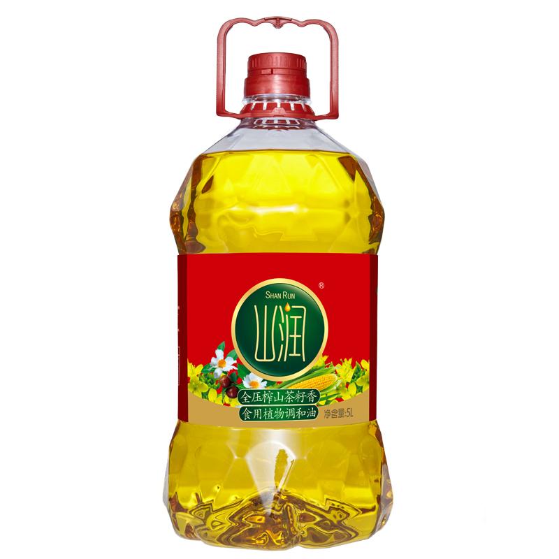 山润全压茶籽玉米菜籽调和油5L玉米油菜籽油茶籽油食用油植物油5L,可领取3元天猫优惠券