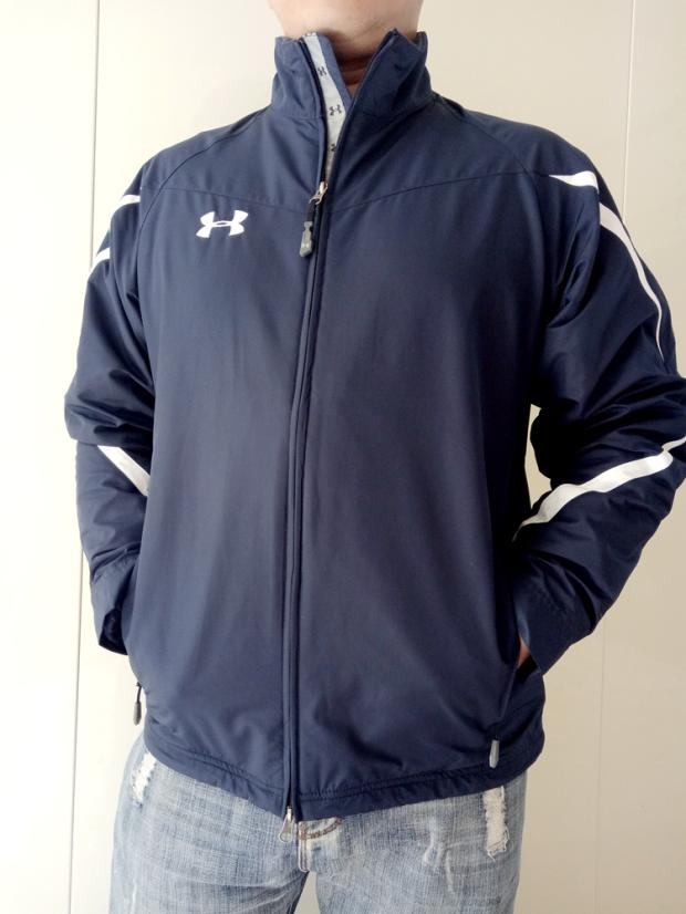 UA mens outdoor training and sports coat jacket and stormsuit plus fat running basketball fitness mens large