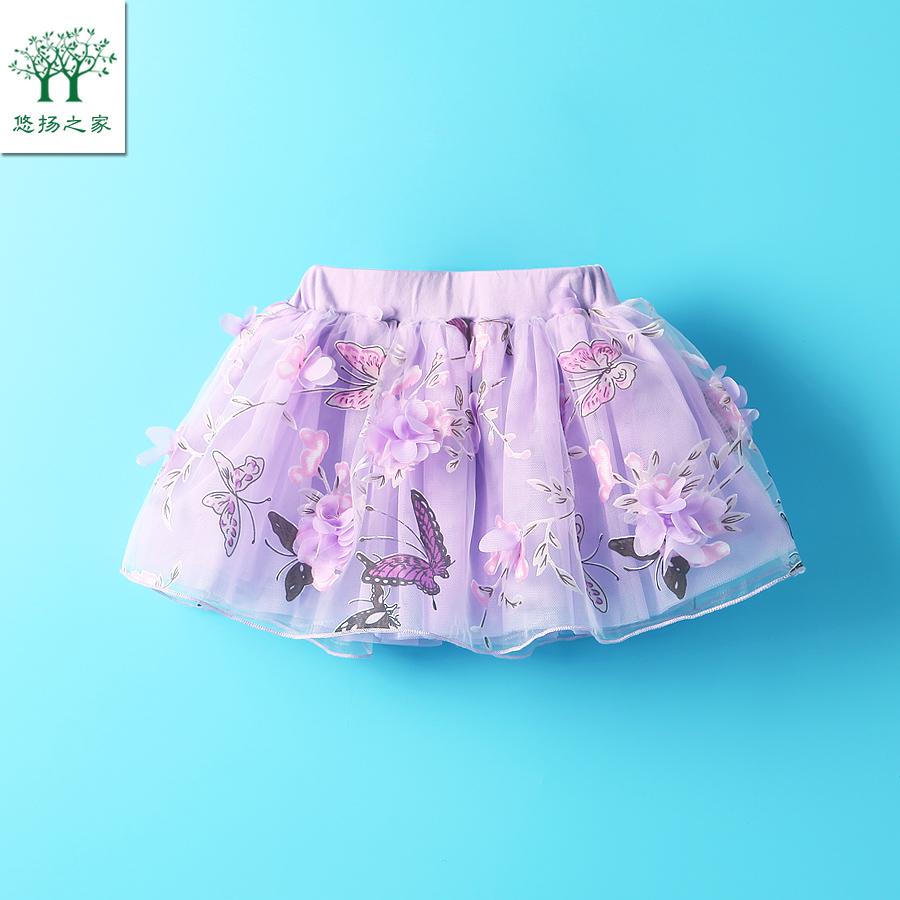 2017女寶寶夏裝短裙半身裙一3二4三5四歲女童網紗裙子兒童公主裙