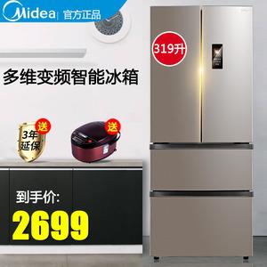 美的319L法式多门四开门变频智能电冰箱风冷无霜家用双门对开三门图片
