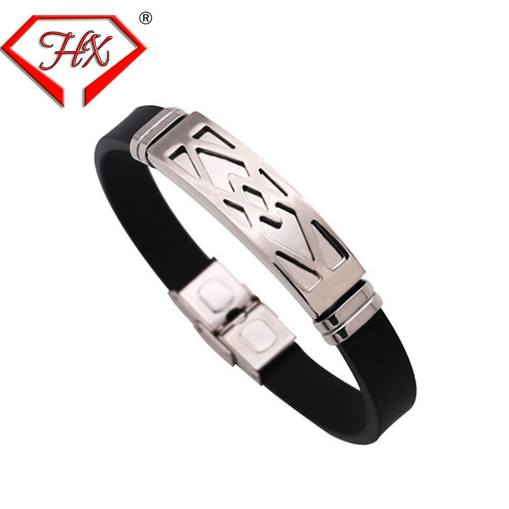 Factory direct selling new mens Bracelet Stainless steel fashion trend leather bracelet Jewelry Bracelet foreign trade