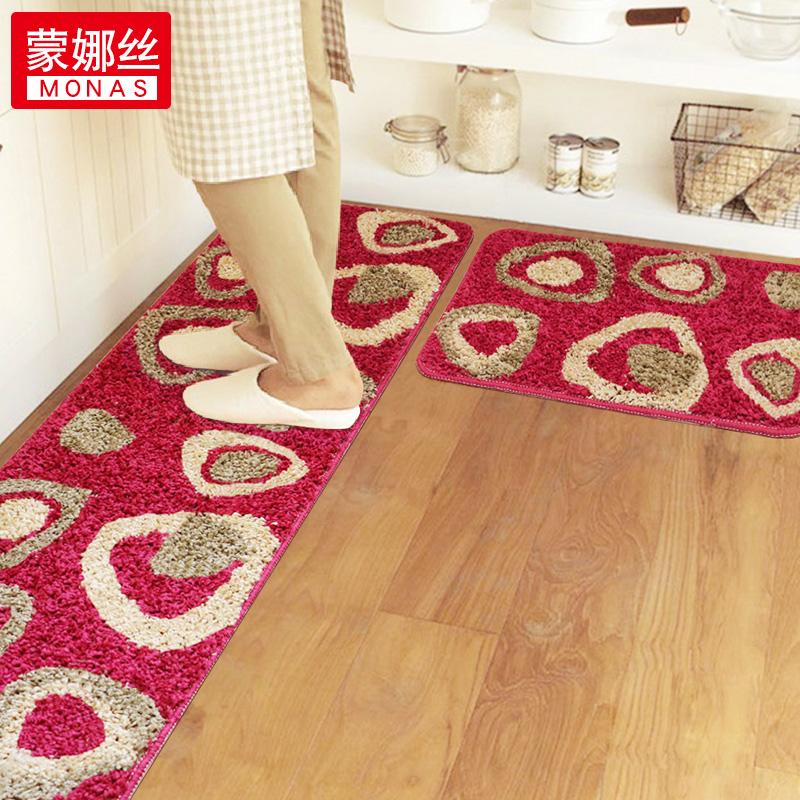 厨房地垫长条防滑吸水防油脚垫家用入户推拉门垫卧室床边毯可定制