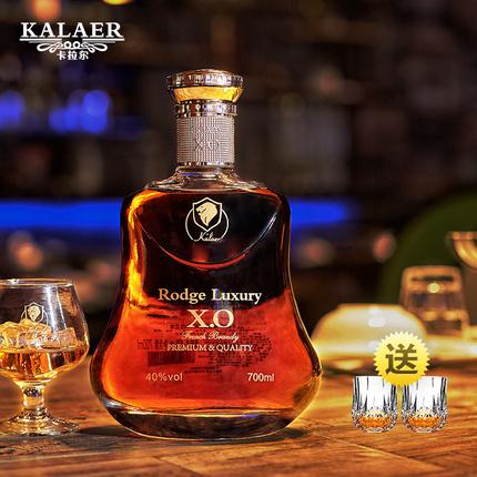 法国白兰地brandy礼盒装烈酒KTV夜场酒吧专用洋酒xo聚会酒水700ml