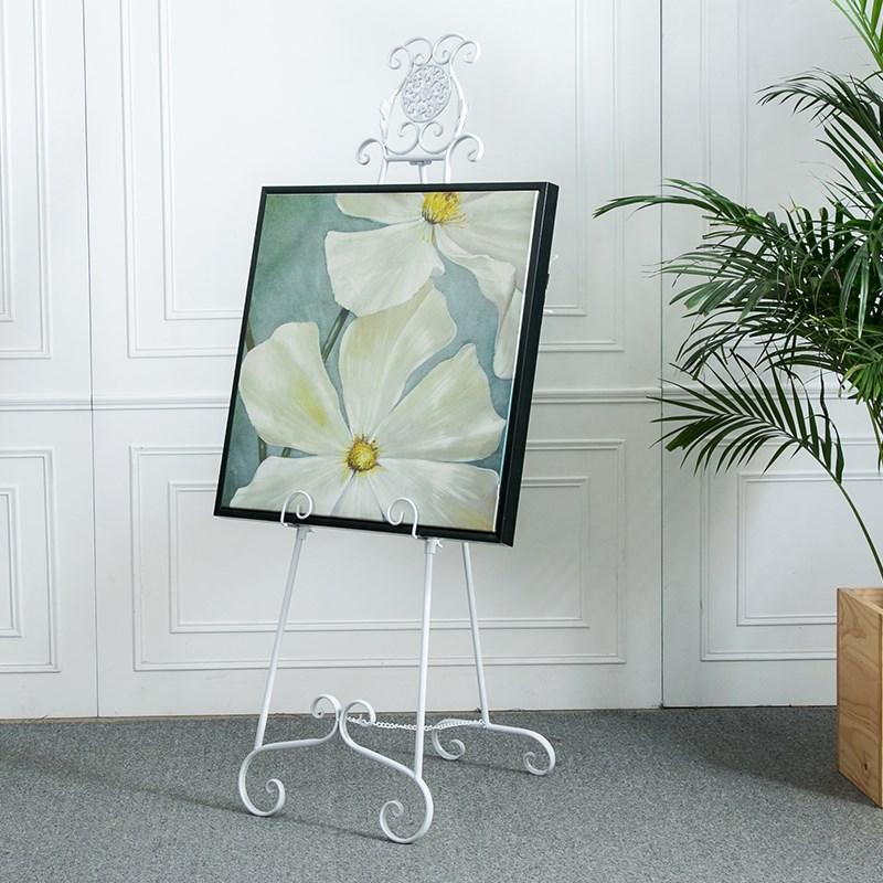 铁艺海报展示广告1.5米相框架十字绣欧式1.8油画架婚纱照瓷砖