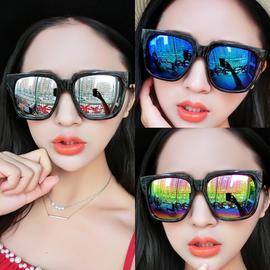 2020新款韩国复古潮人太阳镜男女款黑超大方框圆脸型墨镜遮阳眼镜图片