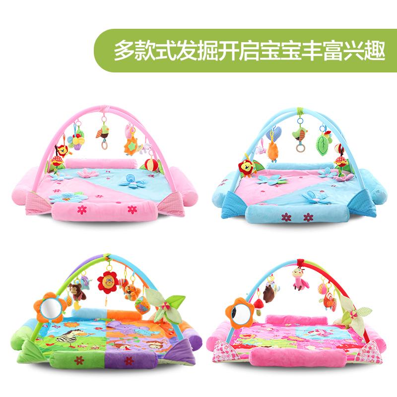 寶寶音樂遊戲毯爬行墊嬰兒健身架3~6~12個月益智玩具滿月 新生