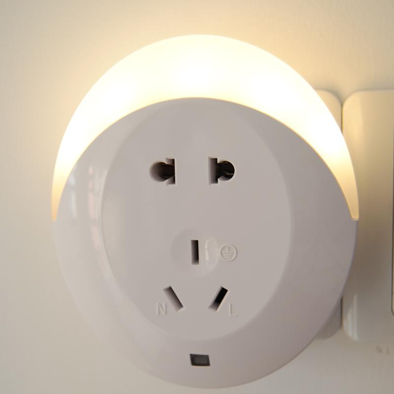 插電插座小夜燈 光控LED節能燈開關臥室床頭感應燈