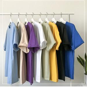 橘社 t恤男短袖纯色半袖纯棉日系五分袖体恤宽松中袖白色短款潮图片