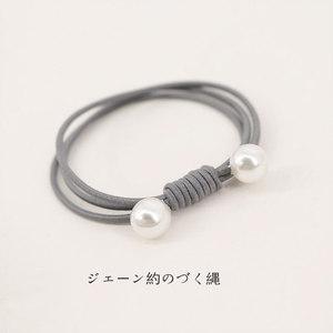 雨诺简约头绳小清新发圈三层弹力发绳个性扎头发皮筋双头珍珠饰品