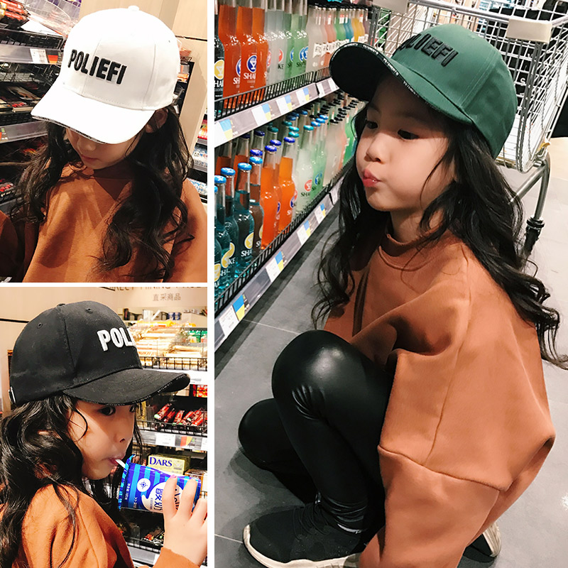 春季新款儿童棒球帽子潮韩版宝宝鸭舌帽男童女童男孩太阳帽遮阳帽