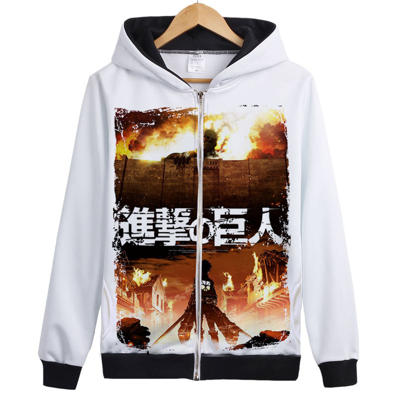 Attacking giant sweater T-shirt spring and autumn sweater cardigan Hoodie anime surrounding cartoon pattern